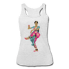 Image of Bharatanatyam Dancer Racerback Tank - heather white