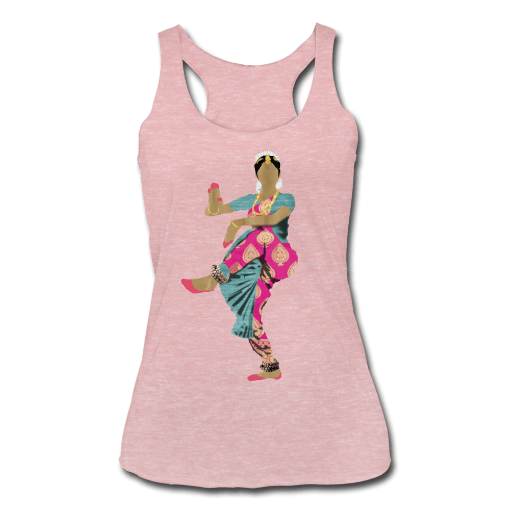 Bharatanatyam Dancer Racerback Tank - heather dusty rose