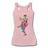 Image of Bharatanatyam Dancer Racerback Tank - heather dusty rose