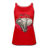 Image of Women's Elephant Color Mandala Tank - red