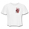 Image of Heart Beat Cropped T-Shirt - white