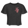 Image of Heart Beat Cropped T-Shirt - deep heather