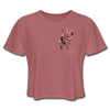 Image of Heart Beat Cropped T-Shirt - mauve