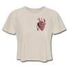 Image of Heart Beat Cropped T-Shirt - dust