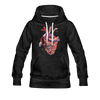 Image of Heart Beat Women's Hoodie - charcoal gray