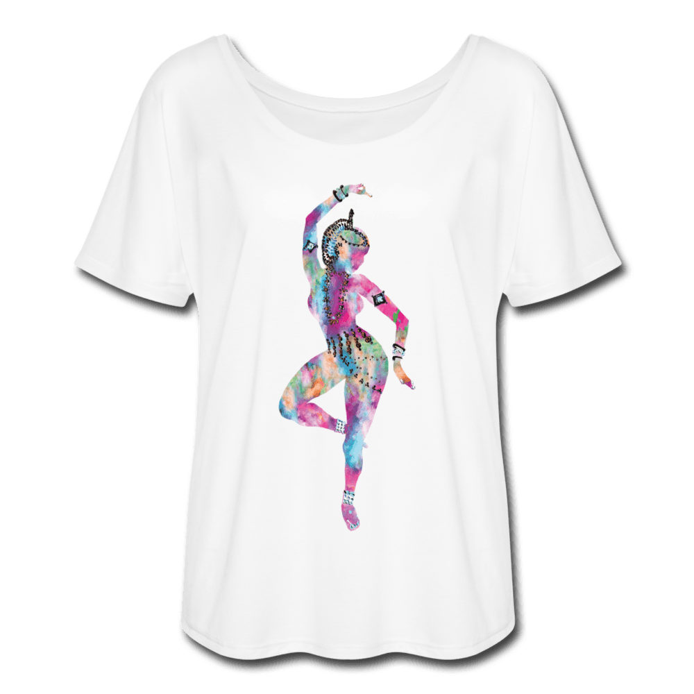 Odissi Watercolor Women's T-Shirt - white