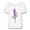 Image of Odissi Watercolor Women's T-Shirt - white