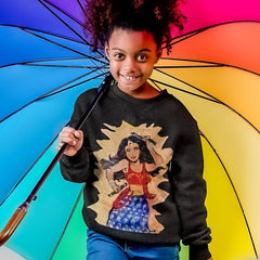 Image of Desi Wonder Woman Kids' Sweatshirt