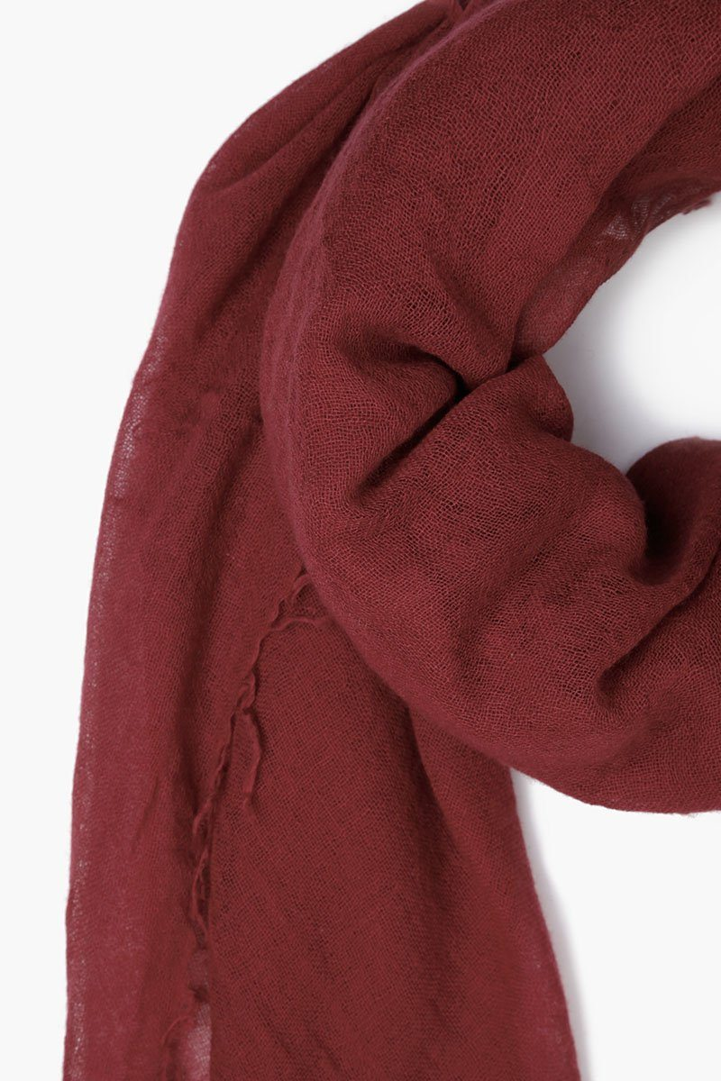 Red Pear Cashmere and Silk Scarf