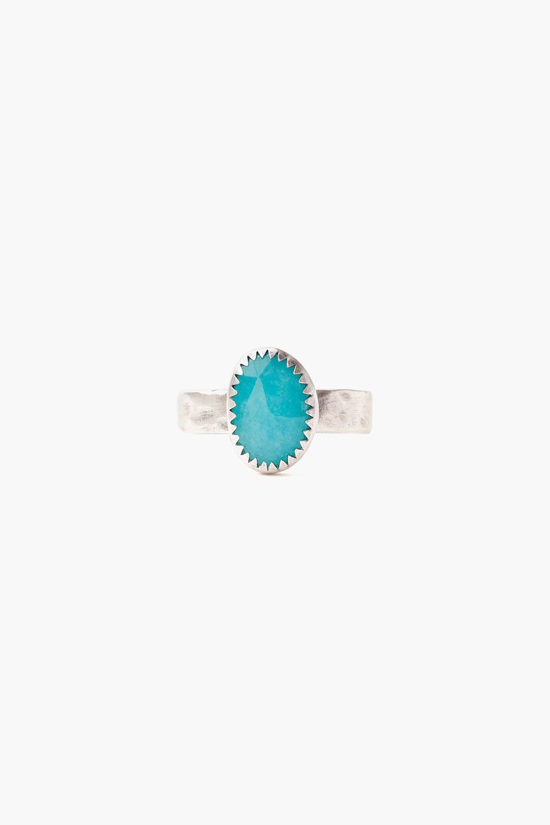 Amazonite Oval Ring