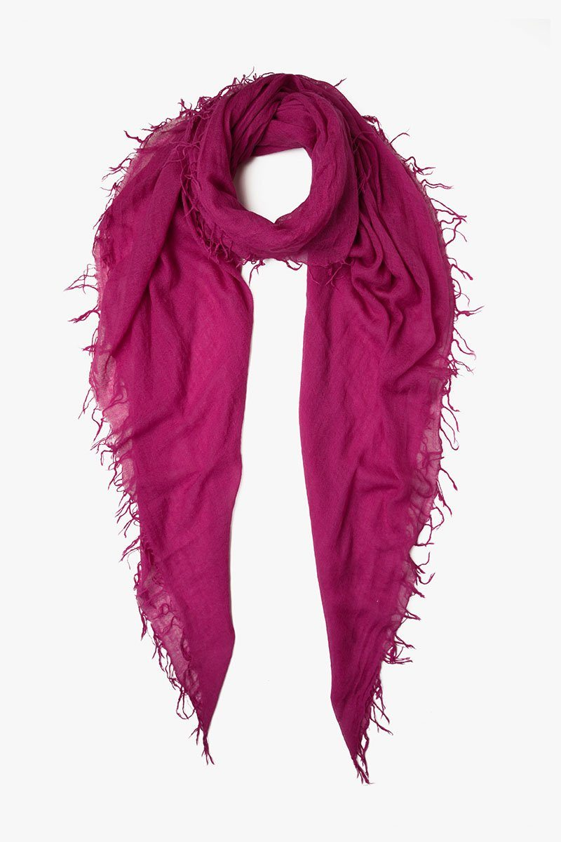 Boysenberry Cashmere and Silk Scarf