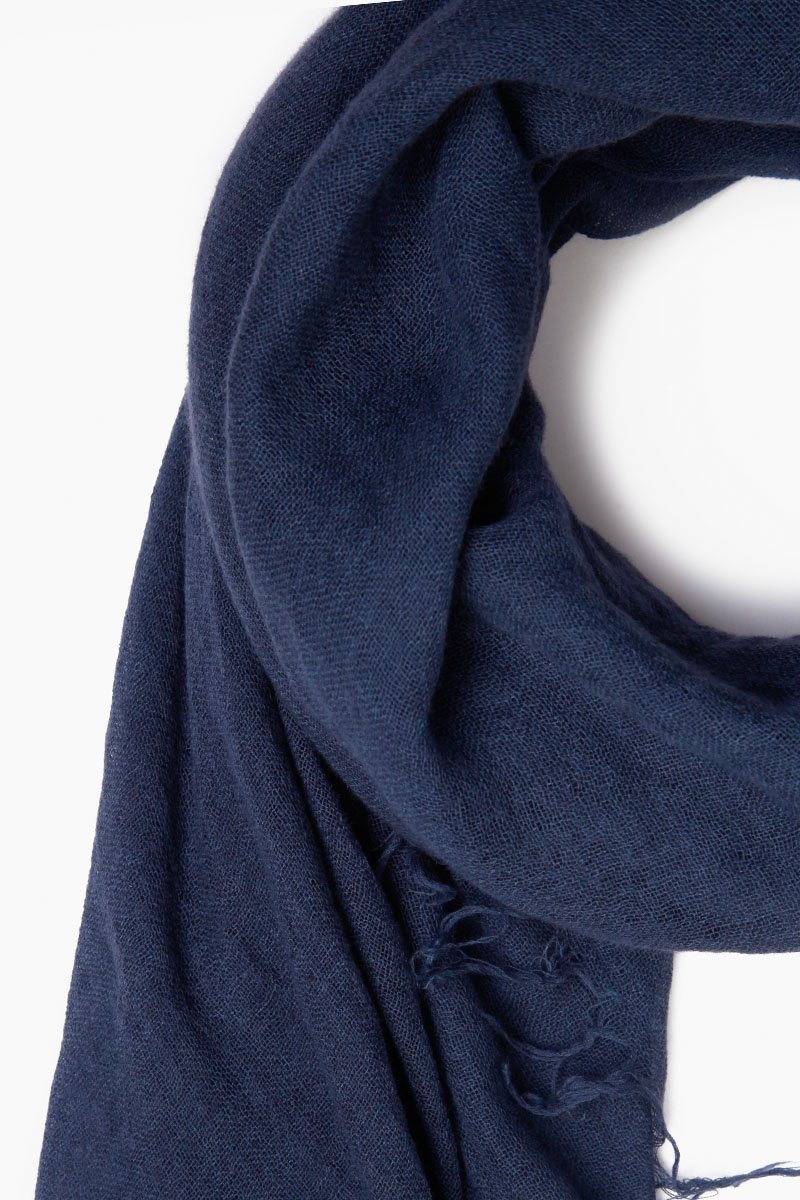 Medieval Blue Cashmere and Silk Scarf