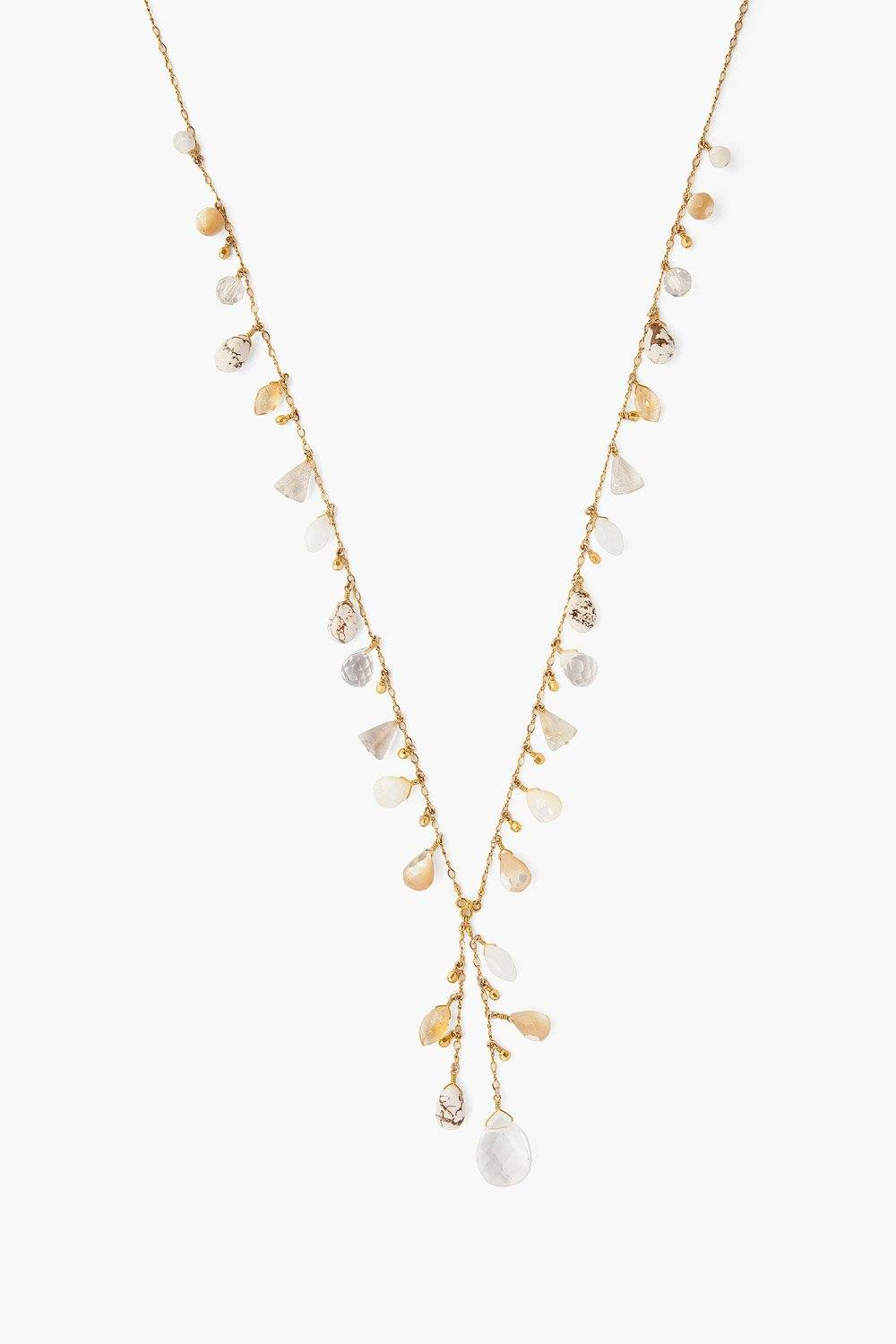 Natural Mother of Pearl Mix Layering Necklace
