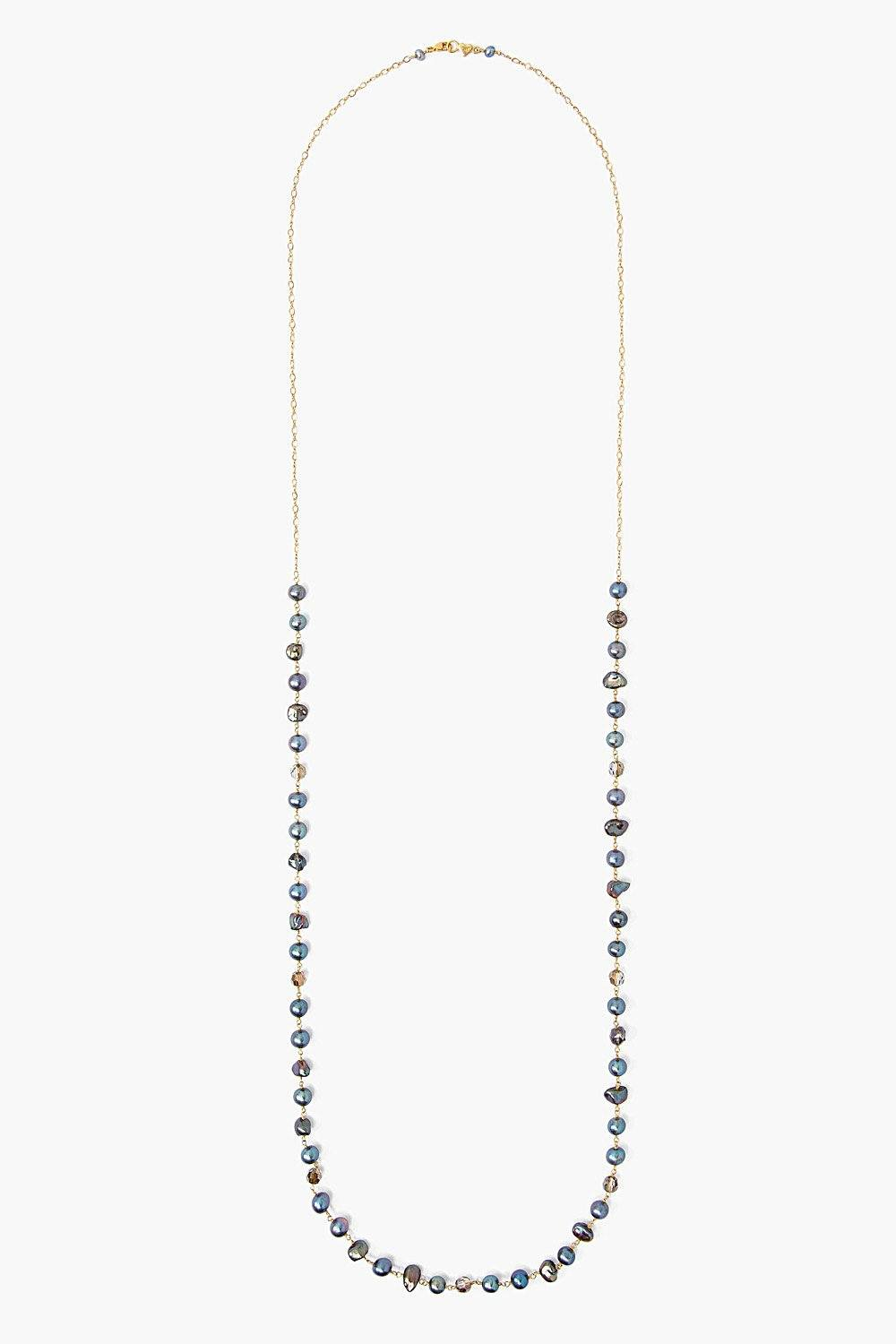 Peacock Pearl Mix Layering Necklace