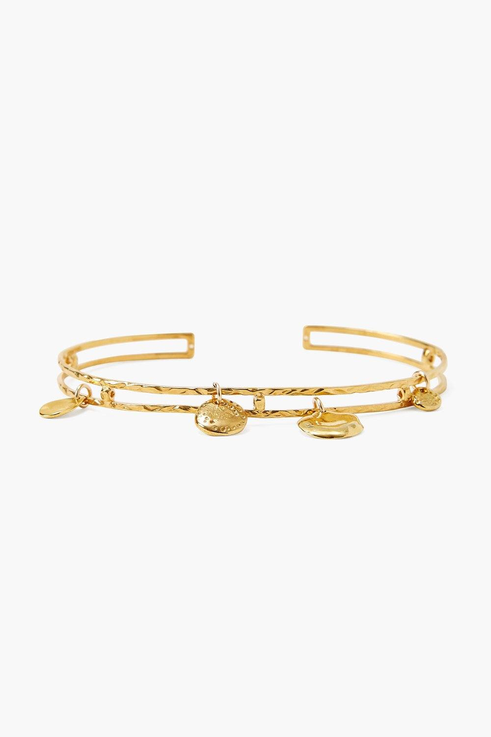 Yellow Gold Charmed Cuff
