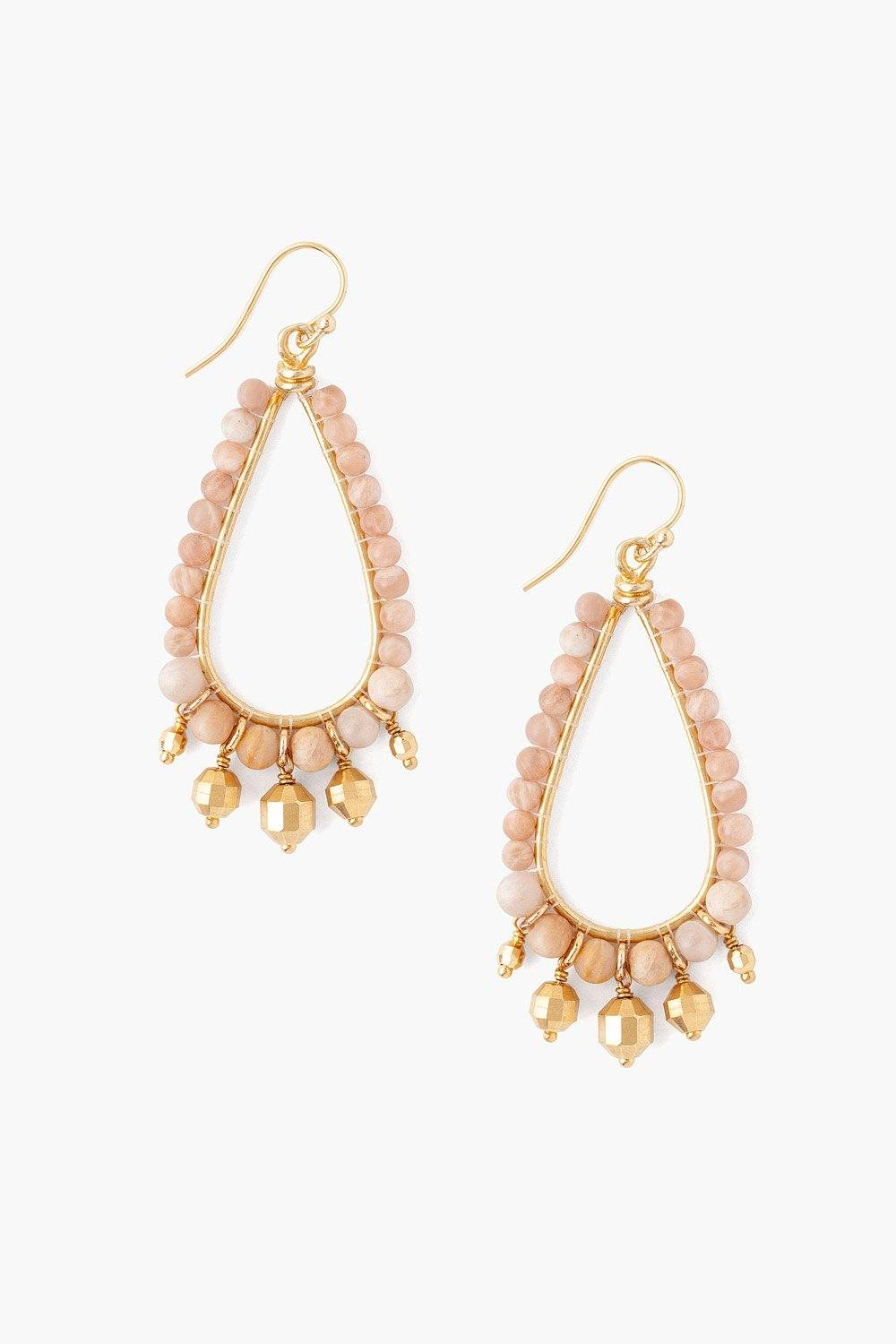 Sunstone Teardrop Earrings