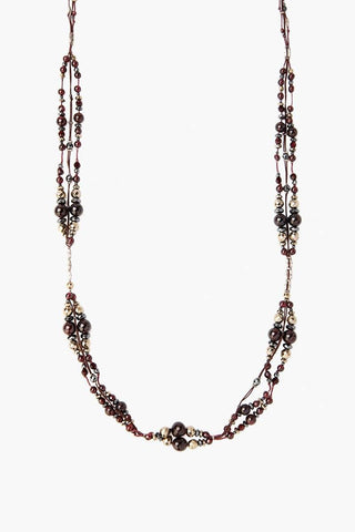 Garnet Mix Beaded Necklace