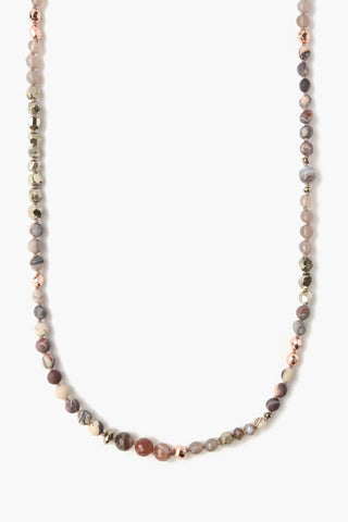 Botswana Agate Mix Layering Necklace