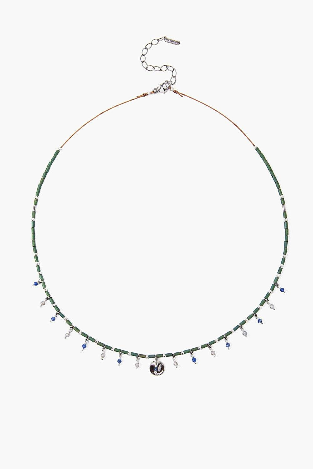 Green Mix Seed Bead Necklace