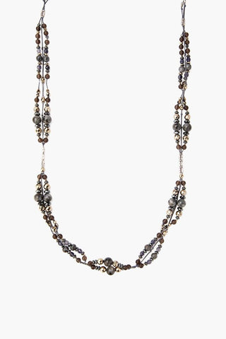Iolite Mix Beaded Necklace