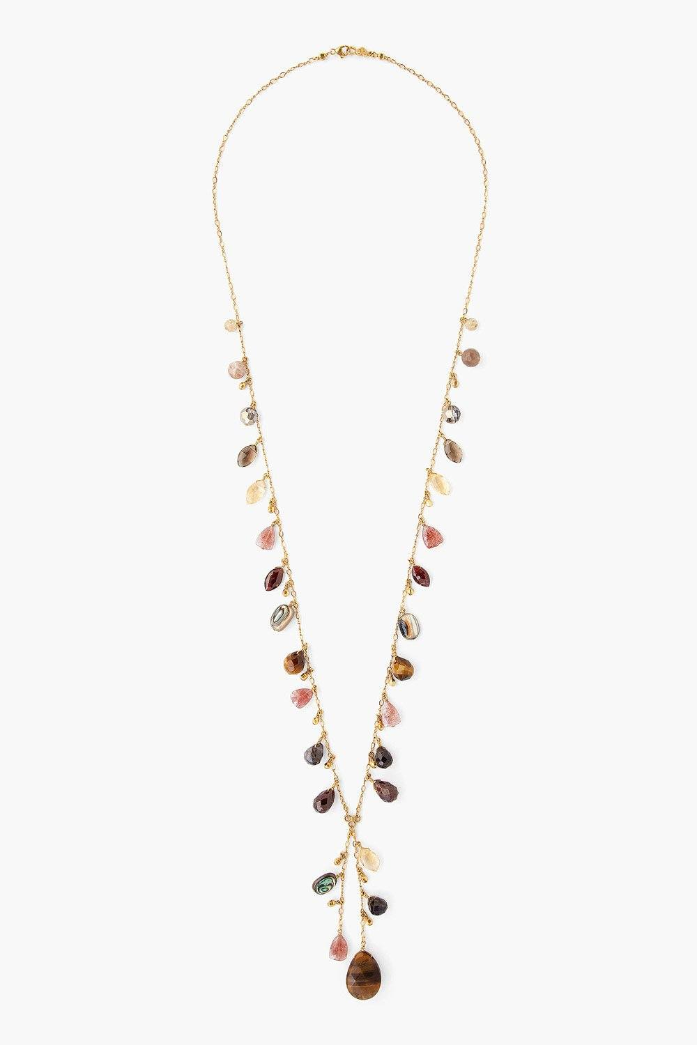 Tiger's Eye Marquise Necklace