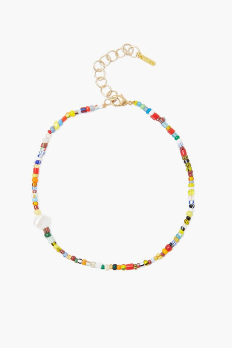 Chan Luu x Ethical Fashion Initiative Multi Bead and Pearl Anklet