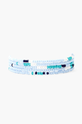 Chan Luu x Ethical Fashion Initiative Serenity Beaded Naked Wrap Bracelet