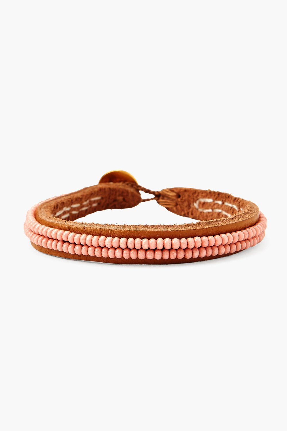 Chan Luu x Ethical Fashion Initiative Coral Beaded Bracelet