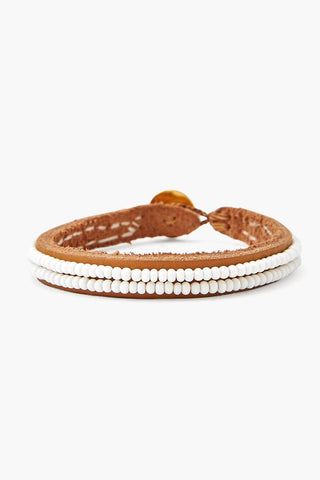 Chan Luu x Ethical Fashion Initiative White Beaded Bracelet