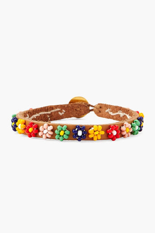 Chan Luu x Ethical Fashion Initiative Flower Beaded Bracelet