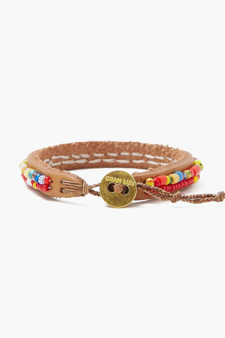 Chan Luu x Ethical Fashion Initiative Red Multi Beaded Bracelet