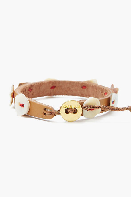 Chan Luu x Ethical Fashion Initiative Mother of Pearl Button Bracelet