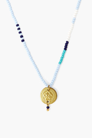 Chan Luu x Ethical Fashion Initiative Serenity Beaded Gold Coin Necklace