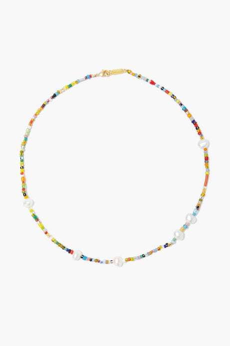 Chan Luu x Ethical Fashion Initiative Multi Bead and Pearl Necklace