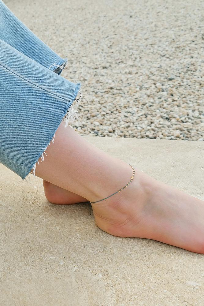 Malaga Gold Bead Anklet