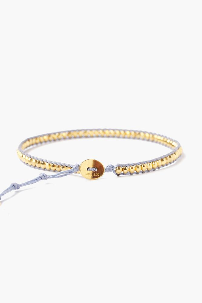 Yellow Gold Anklet On Montana Cord