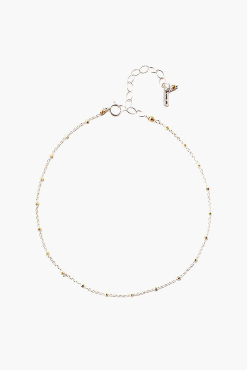 Silver Mix Delicate Chain Anklet