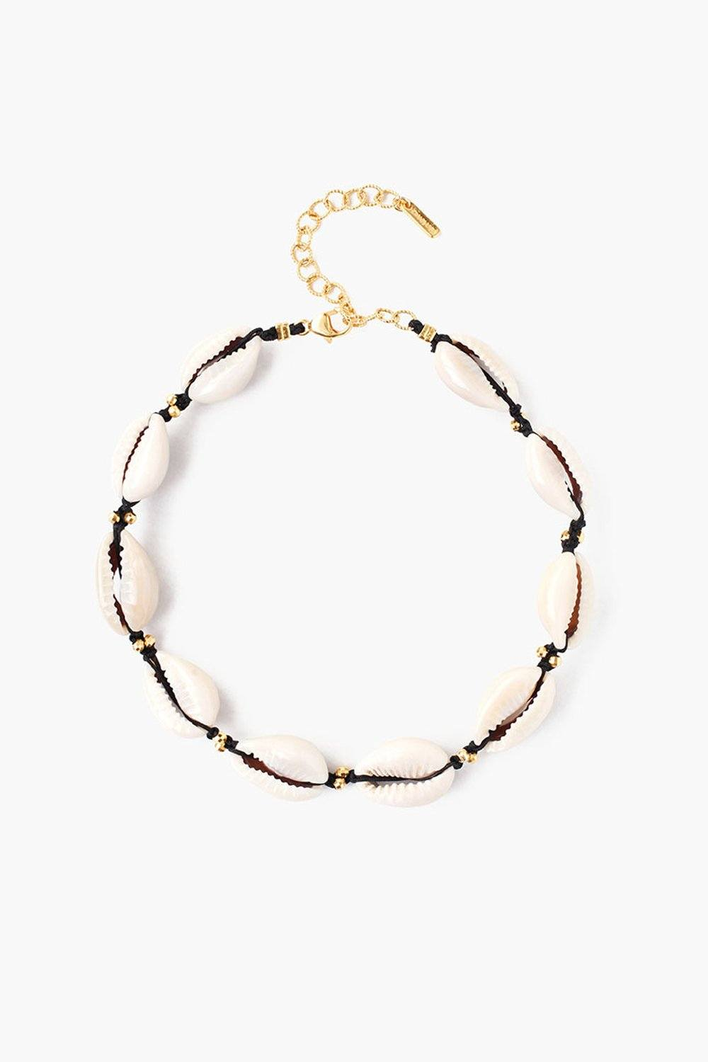 Black Cowry Shell Anklet