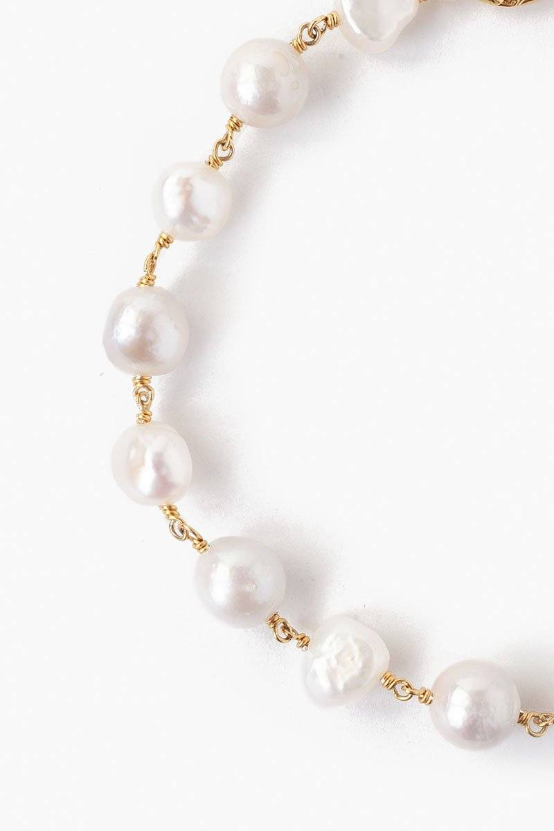 White Pearl Chain Anklet