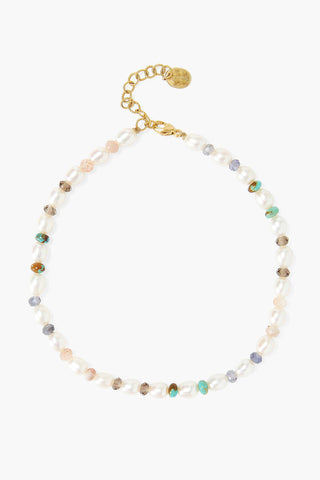 White Pearl Mix Anklet