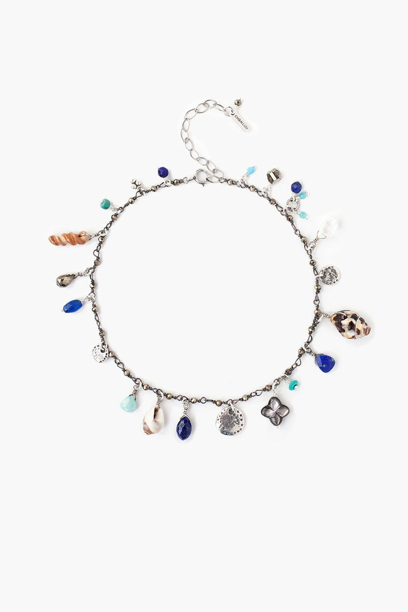 Blue Mix Sea Charm Anklet