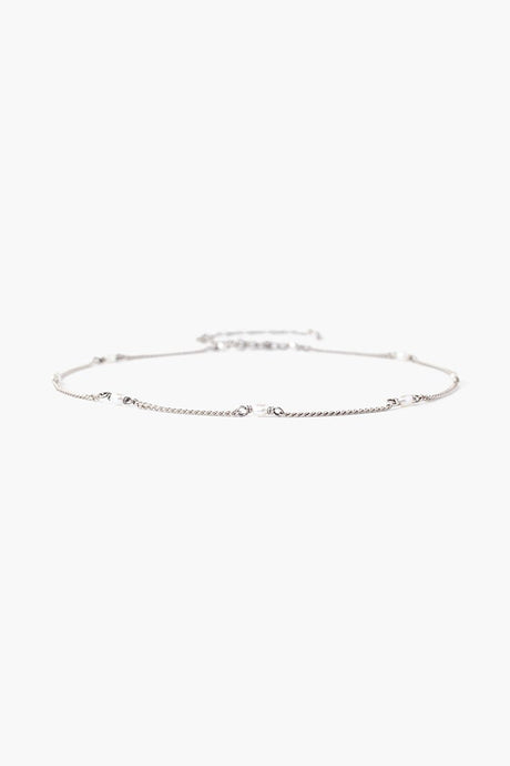 White Pearl and Silver Anklet