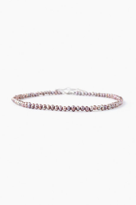 Taupe Freshwater Pearl Anklet