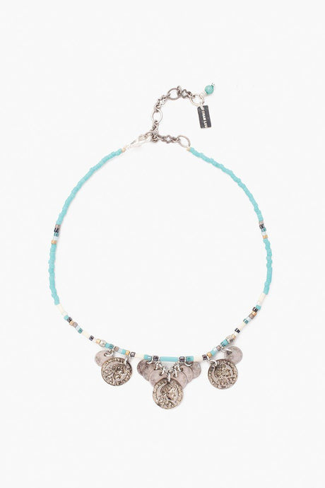 Turquoise Mix Seed Bead Anklet