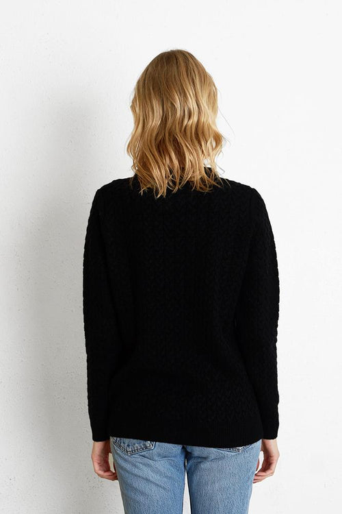 Black Mateo Cardigan