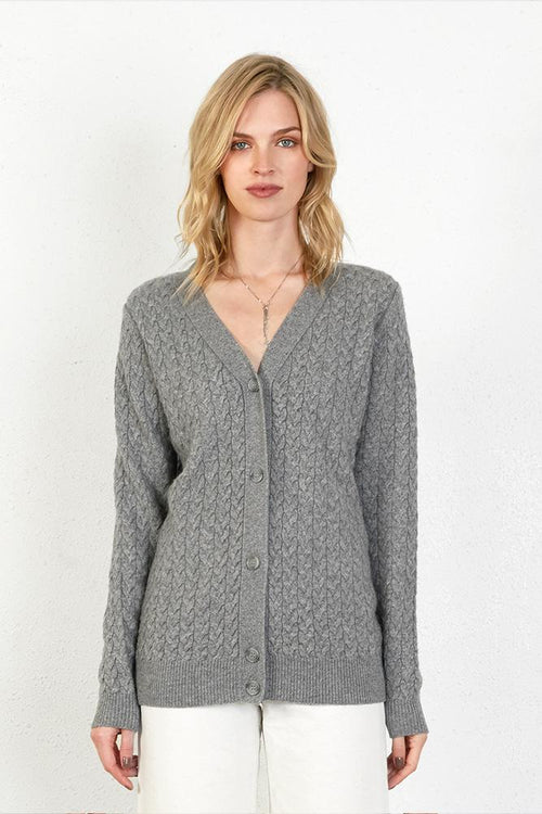 Heather Grey Mateo Cardigan