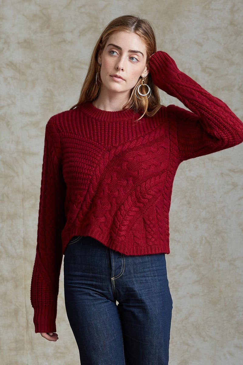 Raspberry Wine Juliette Sweater