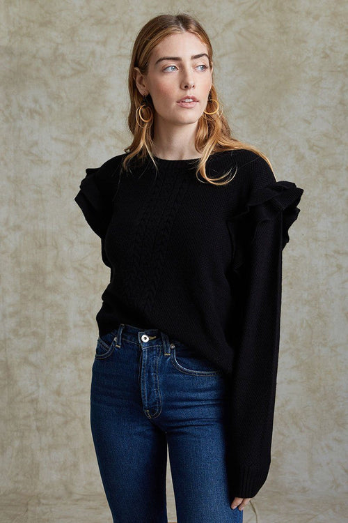 Black Elizabeth Sweater