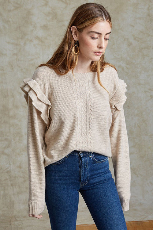 Heather Oatmeal Elizabeth Sweater