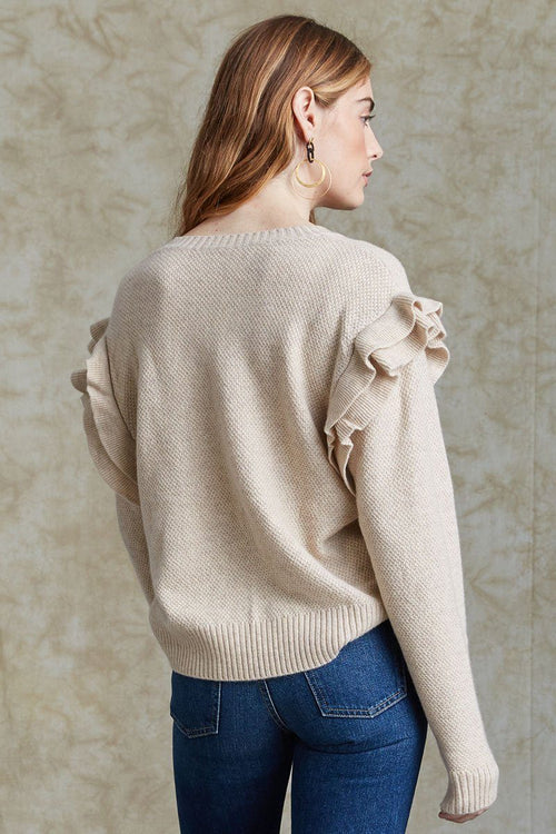 Cream Elizabeth Sweater